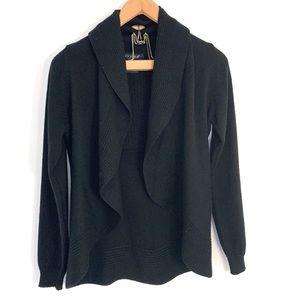Clorinda wool blend draped front cardigan